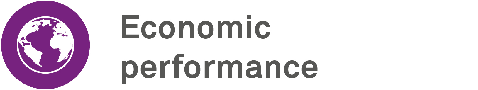 Economic performance gri icon